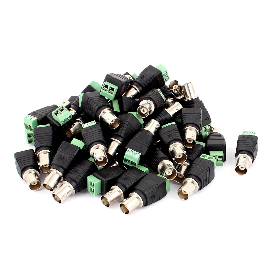 50 Pcs Screw Terminal Coaxial Cat5 to BNC Female Jack Video Balun Connector