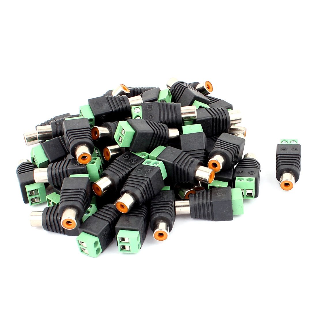 50 Pcs Screw Terminal Coaxial Cat5 Cat6 to Audio Video RCA Female Jack Connector