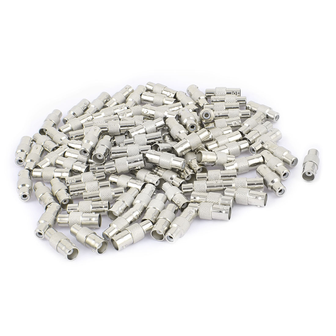 100Pcs BNC Female to RCA Female Jack RF Coaxial Cable Connector Adapter for CCTV Camera