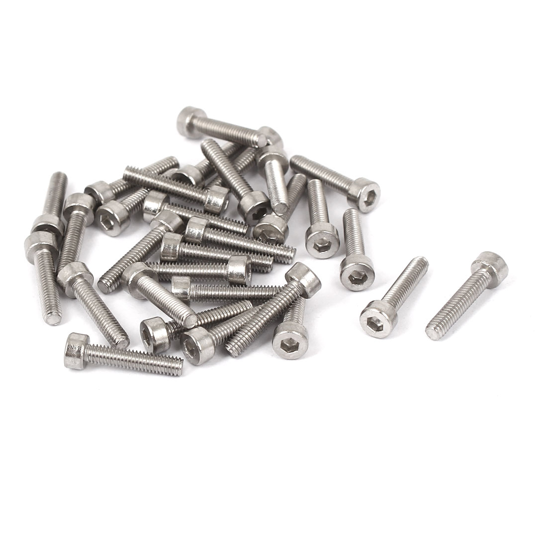 30 Pcs M2.5x12mm 316 Stainless Steel Metric Hex Socket Head Cap Bolts DIN912