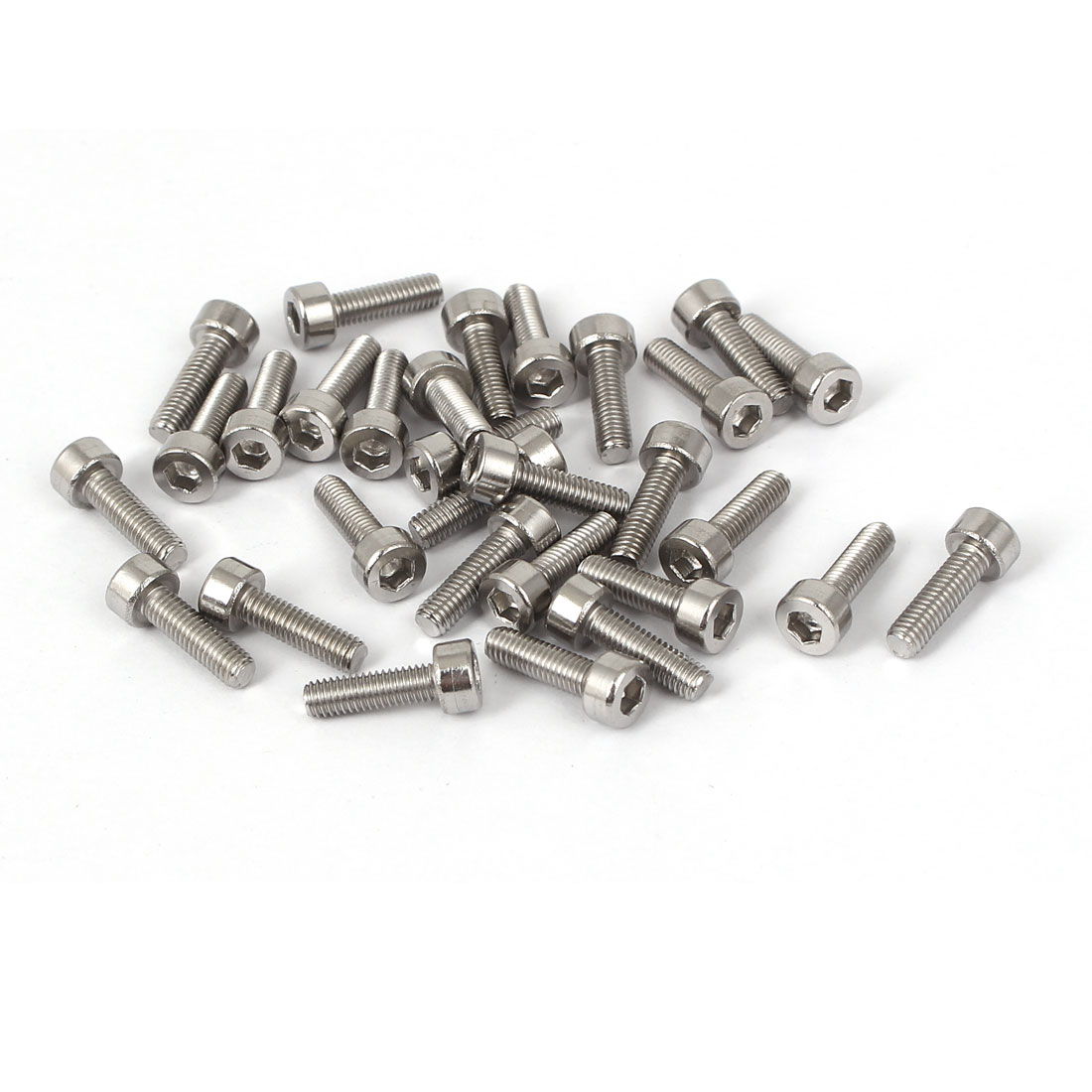 30 Pcs M3x10mm 316 Stainless Steel Hex Socket Head Cap Screws Bolts Fasteners