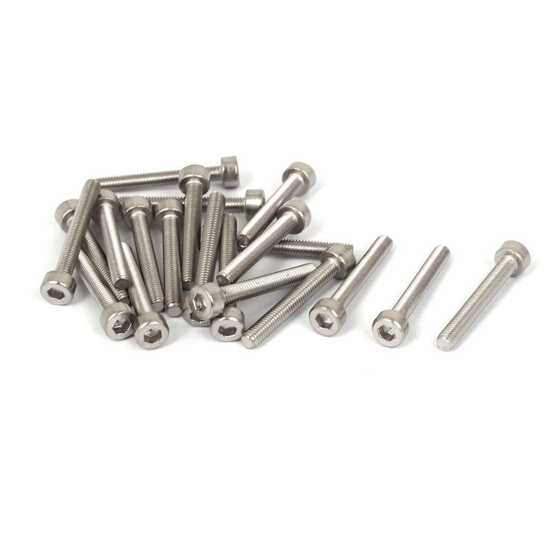 20 Pcs M3x22mm 316 Stainless Steel Metric Hex Socket Head Cap Screws Bolts