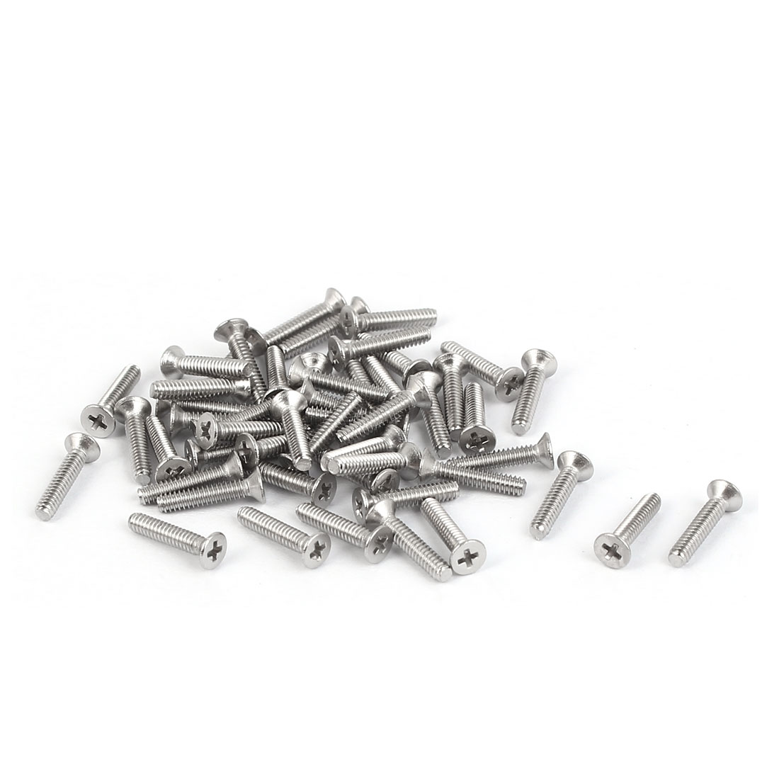 50 Pcs M1.6x8mm 316 Stainless Steel Flat Head Phillips Machine Screws Blots