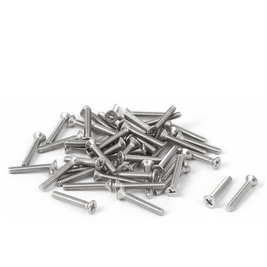 50 Pcs M1.6x10mm 316 Stainless Steel Countersunk Phillips Machine Screws