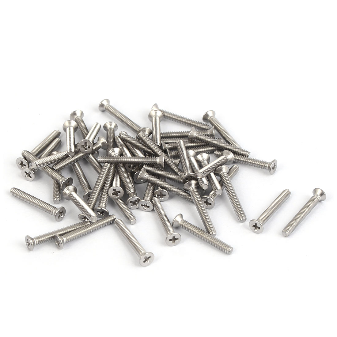 50 Pcs M1.6x12mm 316 Stainless Steel Countersunk Phillips Machine Screws Bolts