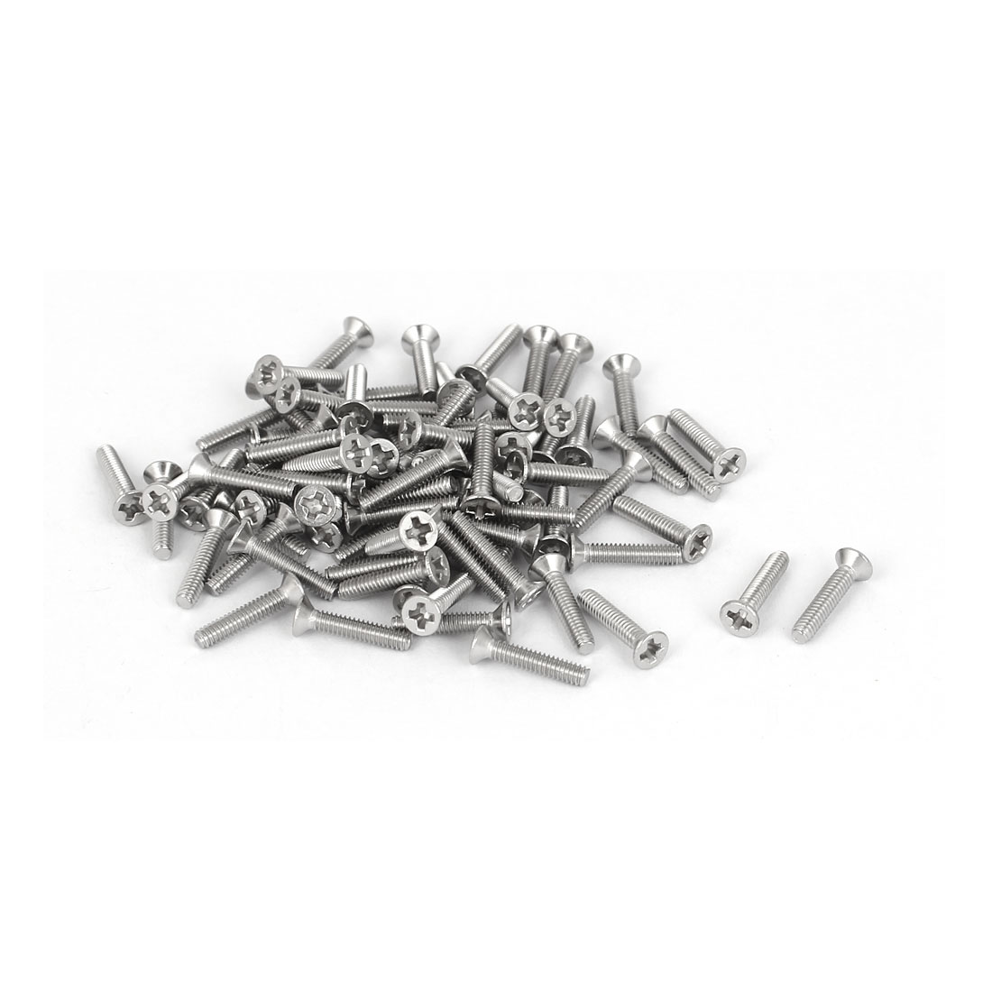 80 Pcs M2x10mm 316 Stainless Steel Flat Head Phillips Machine Screws Fasteners