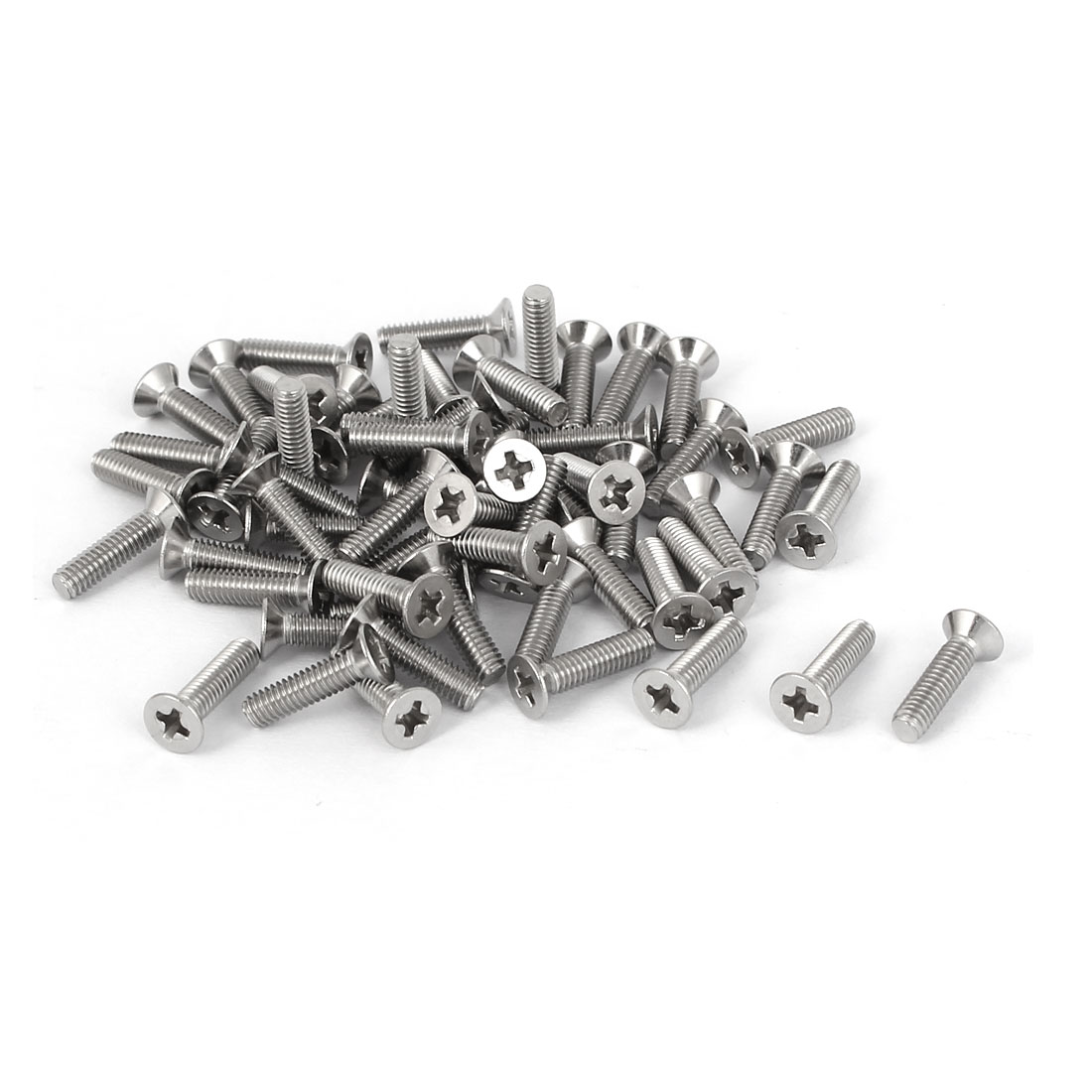 60 Pcs M2.5x10mm 316 Stainless Steel Countersunk Phillips Machine Screws Bolts