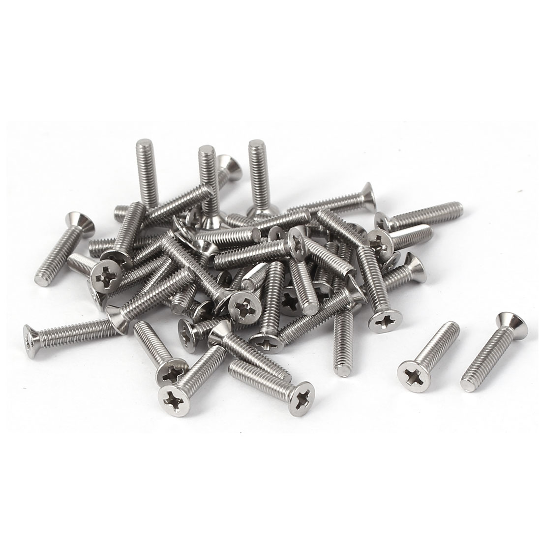 50 Pcs M2.5x12mm 316 Stainless Steel Flat Head Phillips Machine Screws Fasteners