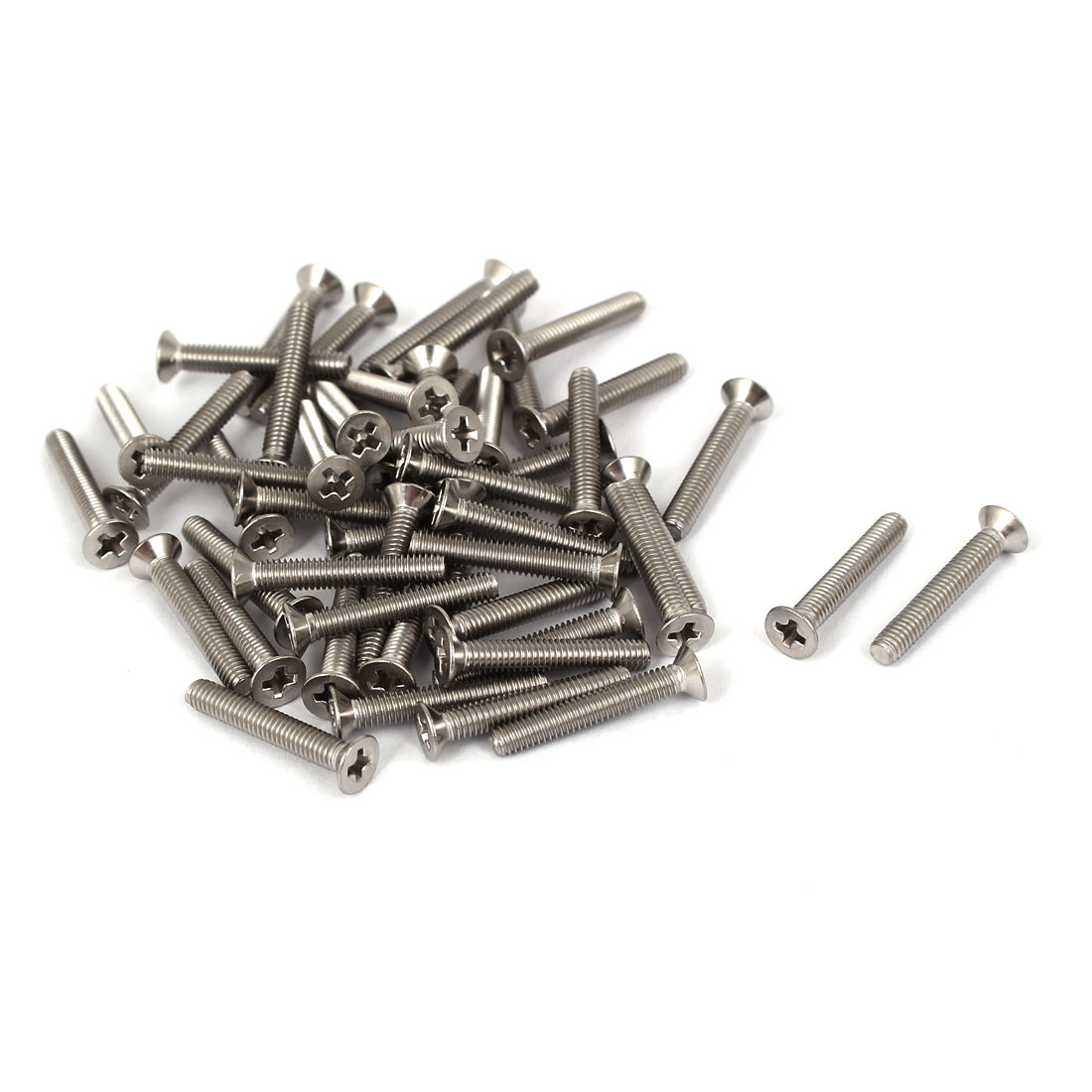 50 Pcs M2.5x16mm 316 Stainless Steel Flat Head Phillips Machine Screws Fasteners