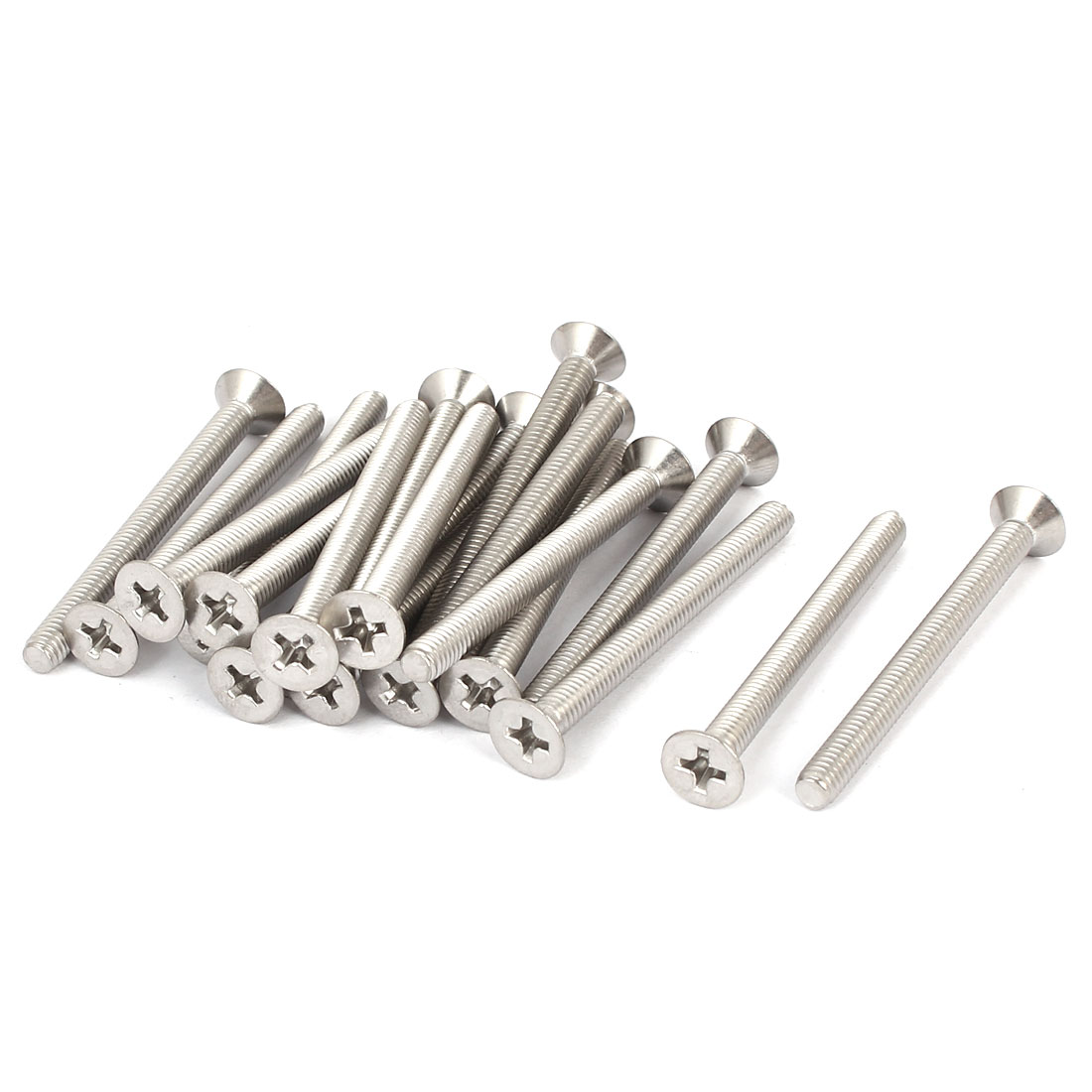 20 Pcs M4x45mm 316 Stainless Steel Flat Head Phillips Machine Screws Fasteners