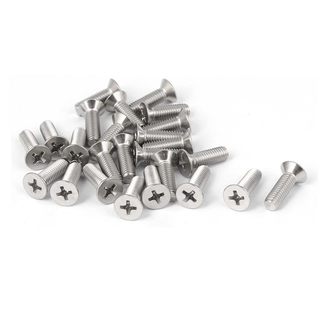 25 Pcs M5x16mm 316 Stainless Steel Countersunk Phillips Machine Screws Bolts