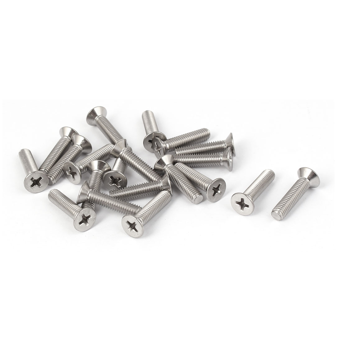 20 Pcs M5x22mm 316 Stainless Steel Countersunk Phillips Machine Screws Fasteners