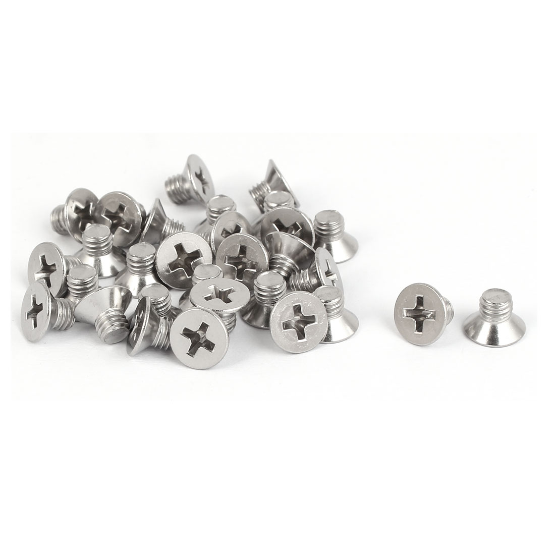 30 Pcs M5x6mm 316 Stainless Steel Countersunk Phillips Machine Screws Fasteners