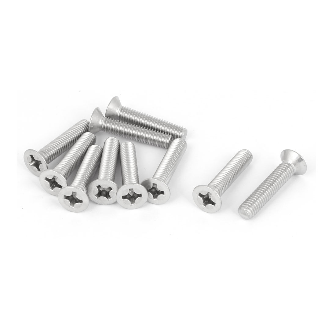 10 Pcs M6x30mm 316 Stainless Steel Countersunk Phillips Machine Screws Fasteners
