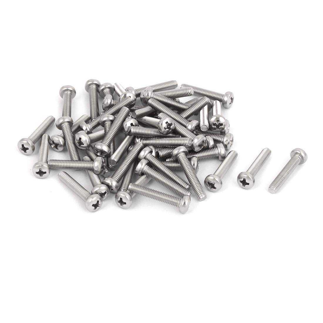 50 Pcs M3x16mm 316 Stainless Steel Metric Phillips Pan Head Machine Screws Bolts