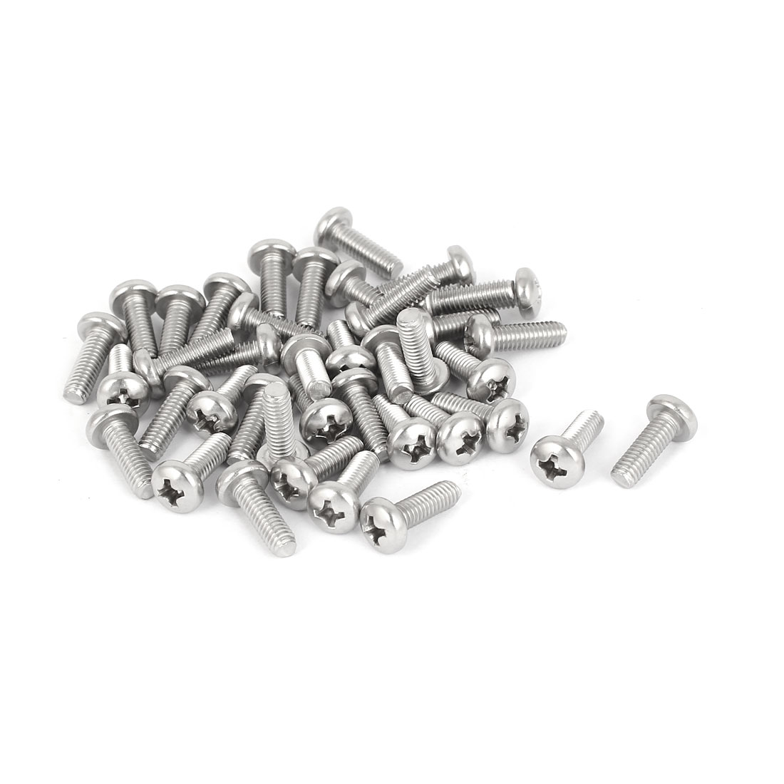 40 Pcs M4x12mm 316 Stainless Steel Phillips Pan Head Machine Screws Fasteners