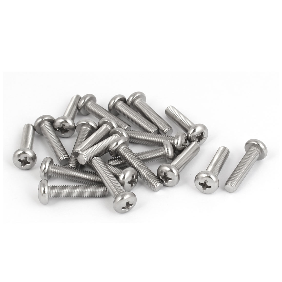 20 Pcs M5x22mm 316 Stainless Steel Metric Phillips Pan Head Machine Screws Bolts