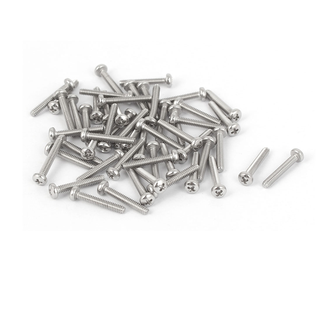 50 Pcs M1.6x10mm 316 Stainless Steel Phillips Pan Head Machine Screws Bolts