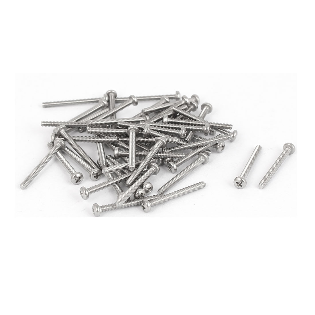 50 Pcs M1.6x16mm 316 Stainless Steel Phillips Pan Head Machine Screws Bolts
