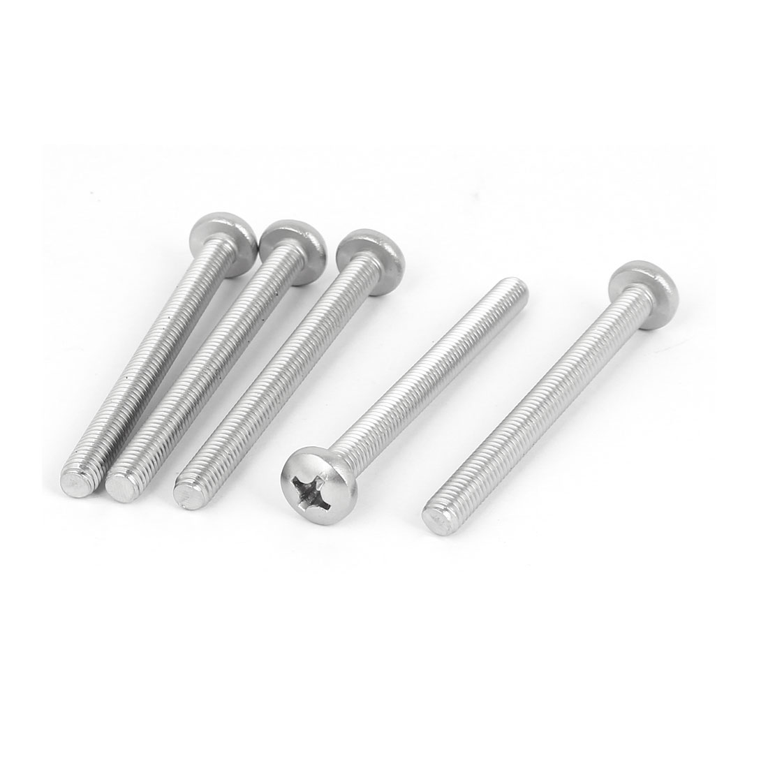 5 Pcs M6x65mm 316 Stainless Steel Phillips Pan Head Machine Screws Fasteners