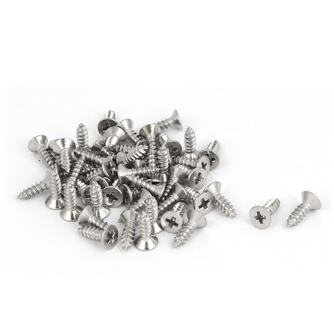 50 Pcs M2.9x9.5mm 316 Stainless Steel Countersunk Phillips Self Tapping Screws