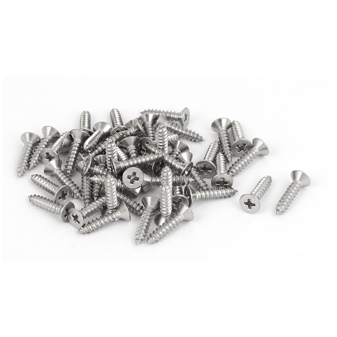 50 Pcs M2.9x13mm 316 Stainless Steel Flat Head Phillips Self Tapping Screws