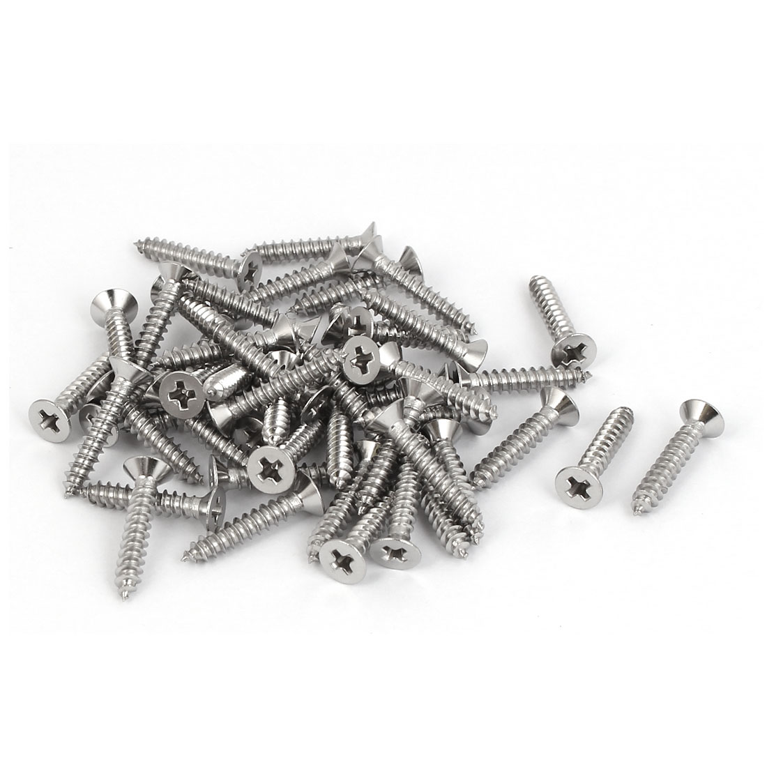 50 Pcs M2.9x16mm 316 Stainless Steel Flat Head Phillips Self Tapping Screws