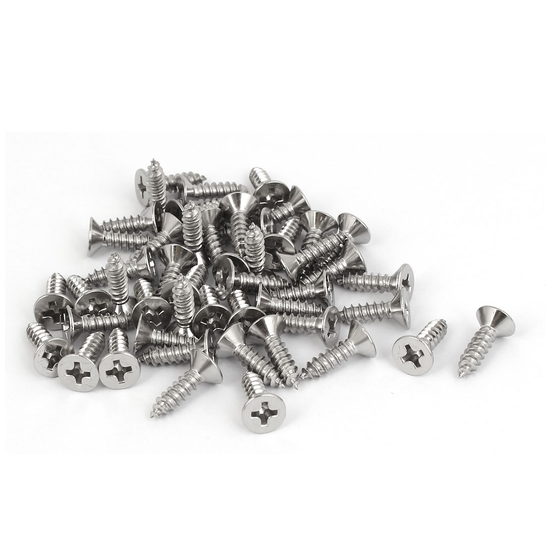 M3.5x13mm 316 Stainless Steel Flat Head Phillips Self Tapping Screws Bolts 50pcs