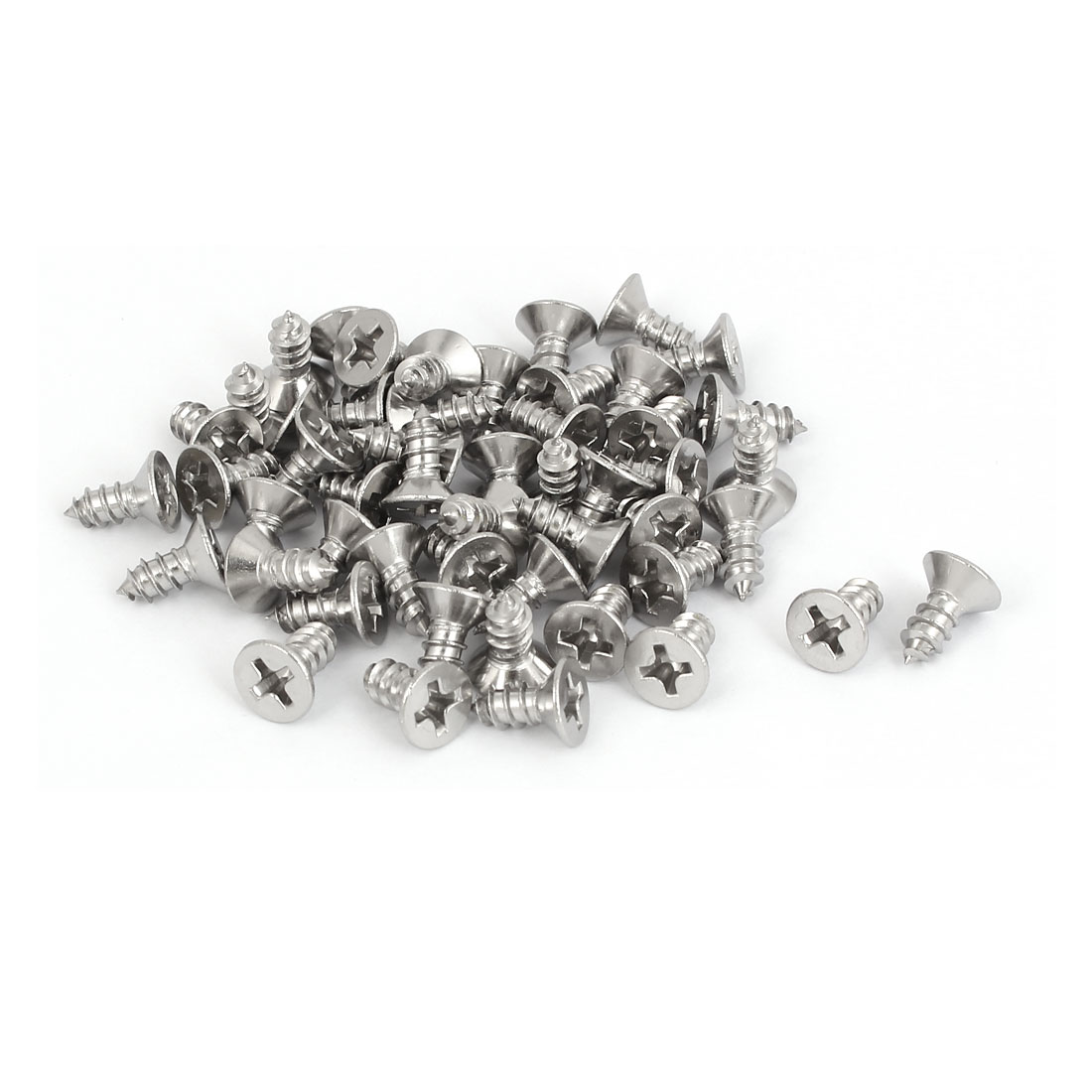 M3.9x9.5mm 316 Stainless Steel Flat Head Phillips Self Tapping Screws 50pcs