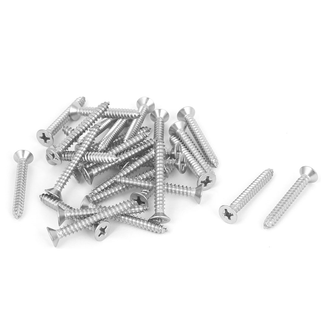M3.9x32mm 316 Stainless Steel Flat Head Phillips Self Tapping Screws Bolts 30pcs