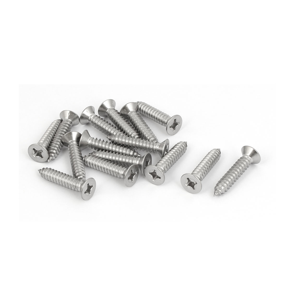 M6.3x32mm 316 Stainless Steel Flat Head Phillips Self Tapping Screws Bolts 15pcs