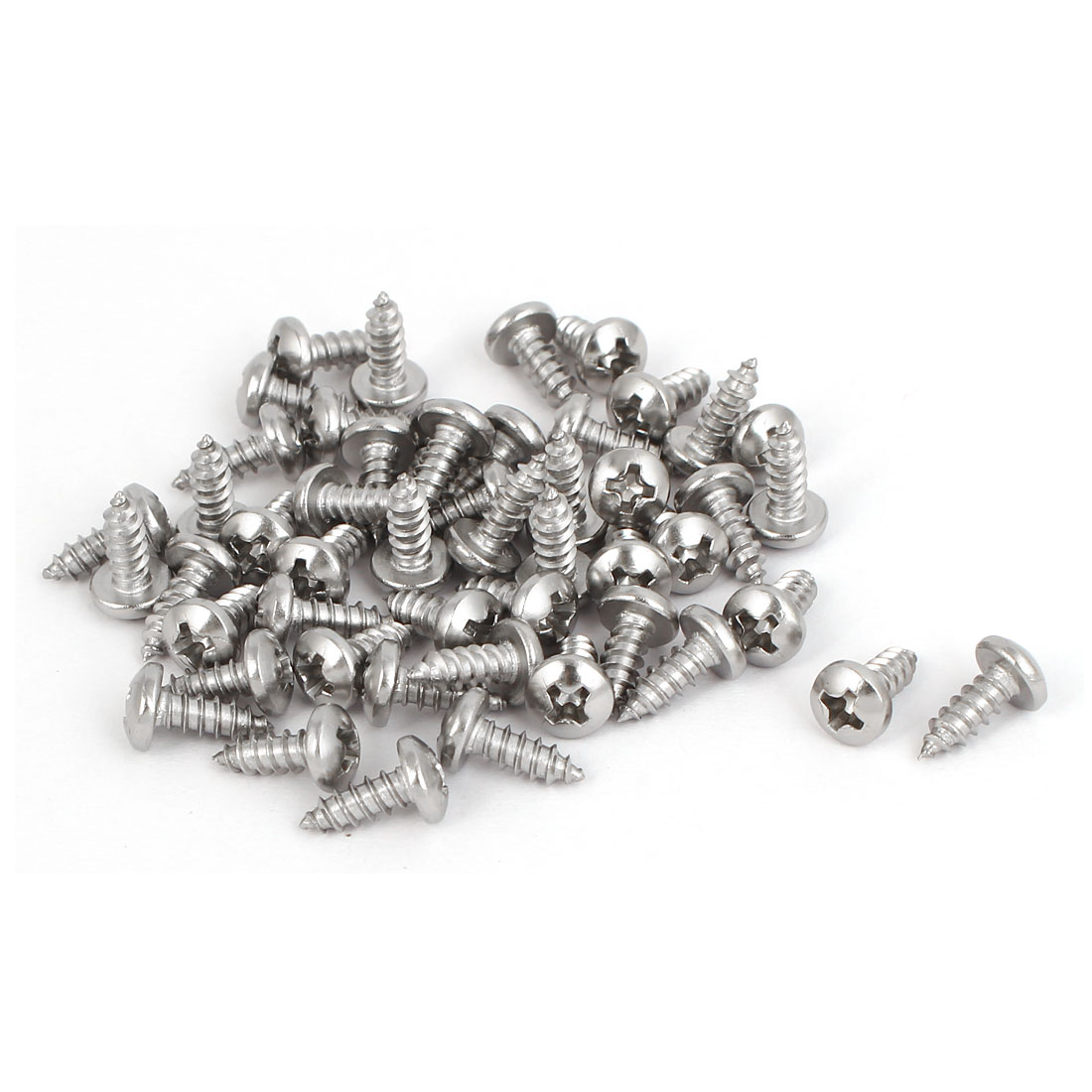 M3.5x9.5mm 316 Stainless Steel Phillips Drive Pan Head Self Tapping Screws 50pcs