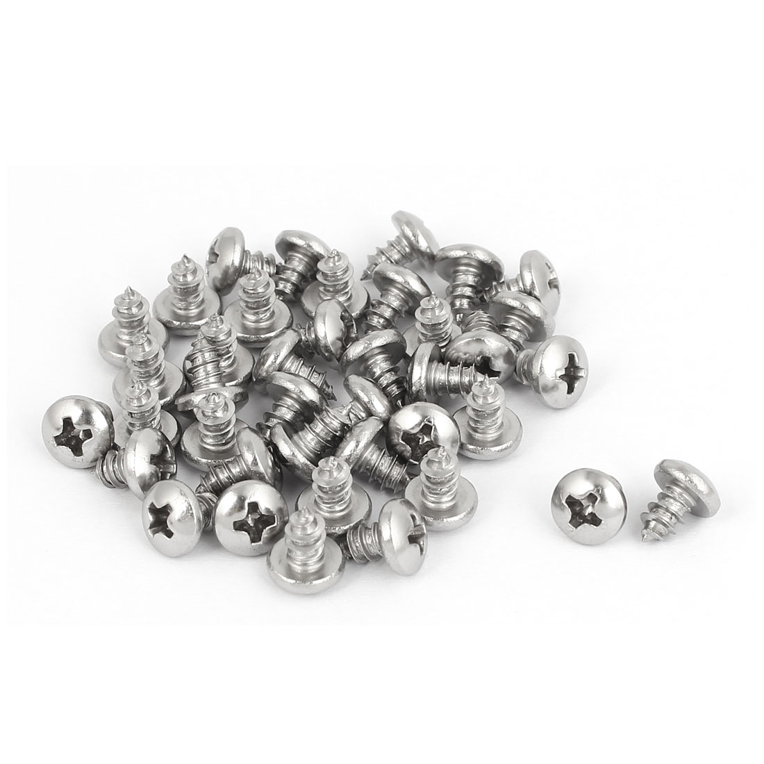 M3.9x6.5mm 316 Stainless Steel Phillips Pan Head Self Tapping Screws Bolts 40pcs