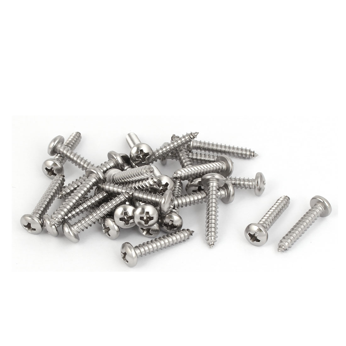 M3.9x22mm 316 Stainless Steel Phillips Round Pan Head Self Tapping Screws 30pcs