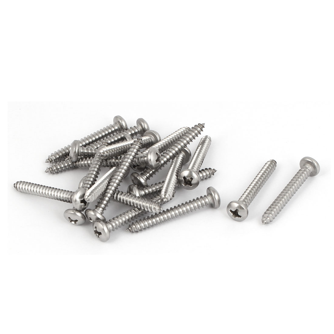 M4.2x32mm 316 Stainless Steel Phillips Pan Head Self Tapping Screws Bolts 20pcs