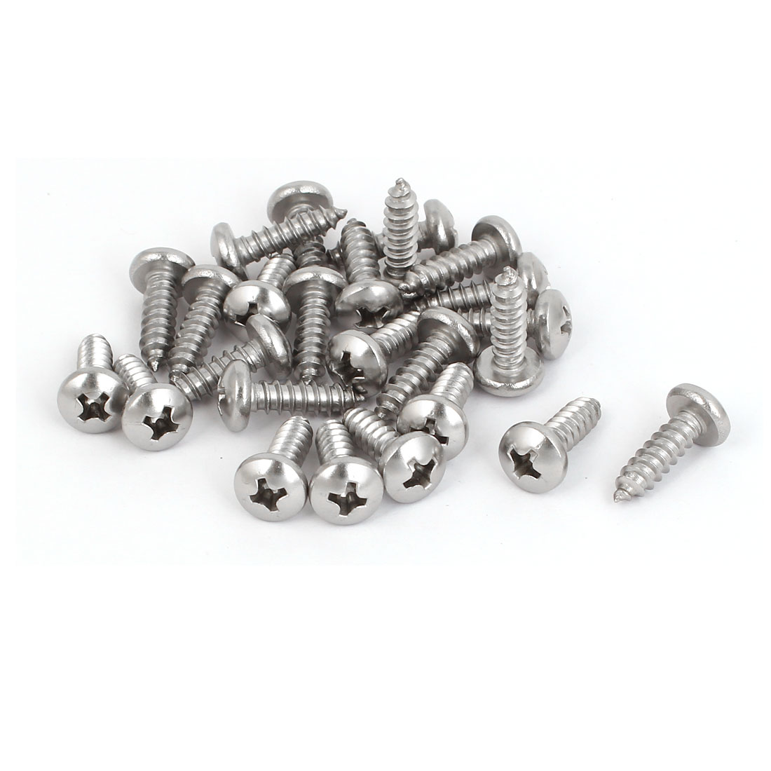 M4.8x16mm 316 Stainless Steel Phillips Pan Head Self Tapping Screws Bolts 25pcs