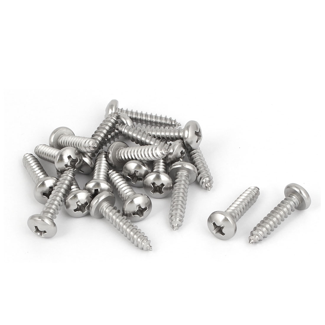M4.8x22mm 316 Stainless Steel Phillips Drive Pan Head Self Tapping Screws 20pcs