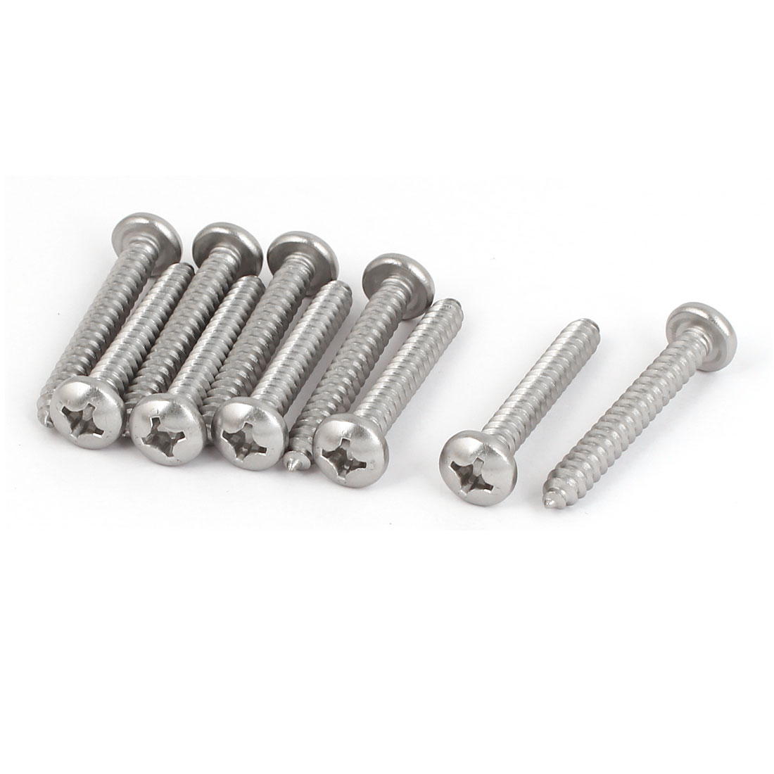 M5.5x40mm 316 Stainless Steel Metric Phillips Pan Head Self Tapping Screws 10pcs
