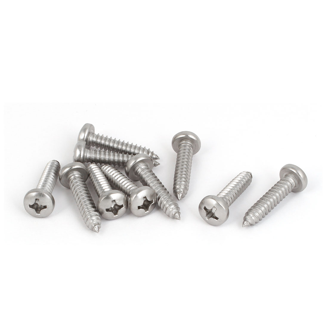 M6.3x30mm 316 Stainless Steel Phillips Drive Pan Head Self Tapping Screws 10pcs