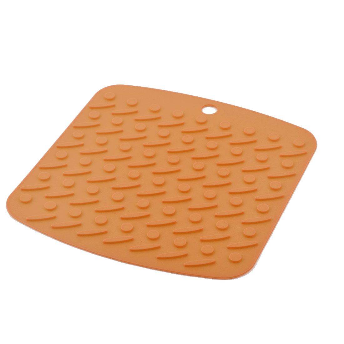 Silicone Nonslip Table Heat Resistant Mat Bowl Cup Cushion Placemat Pad Orange