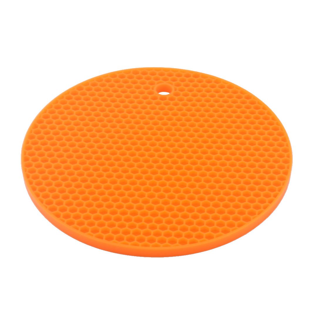 Silicone Honeycomb Design Table Heat Resistant Mat Cup Coaster Cushion Placemat Pad Orange