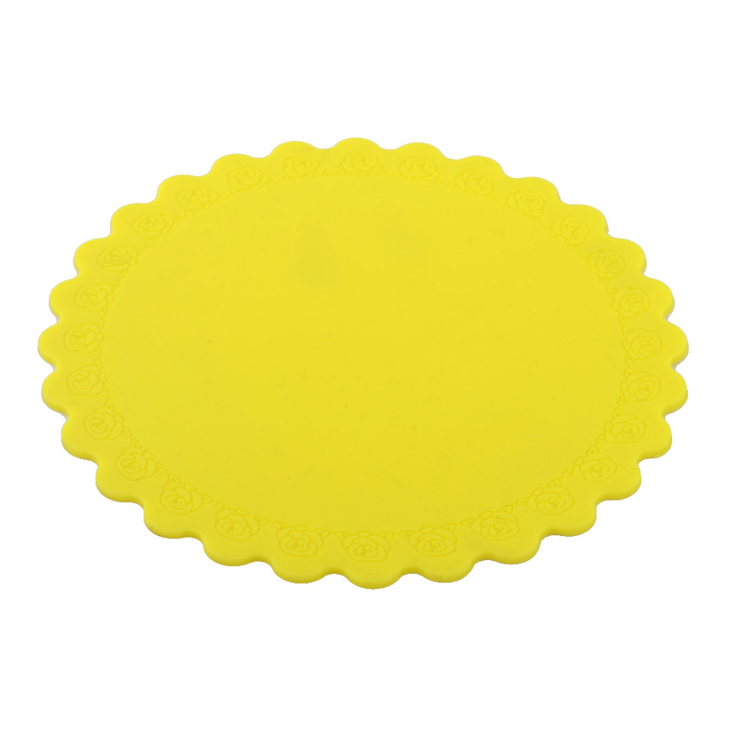 Silicone Rose Carven Table Heat Resistant Mat Cup Coaster Cushion Placemat Pad Yellow
