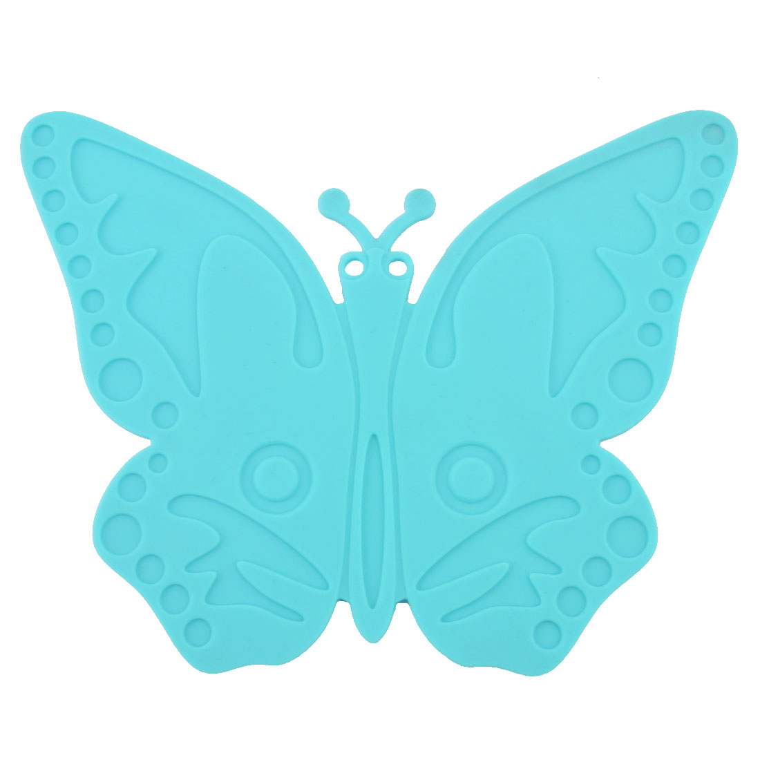 Silicone Butterfly Design Heat Resistant Mat Cup Coaster Cushion Placemat Cyan