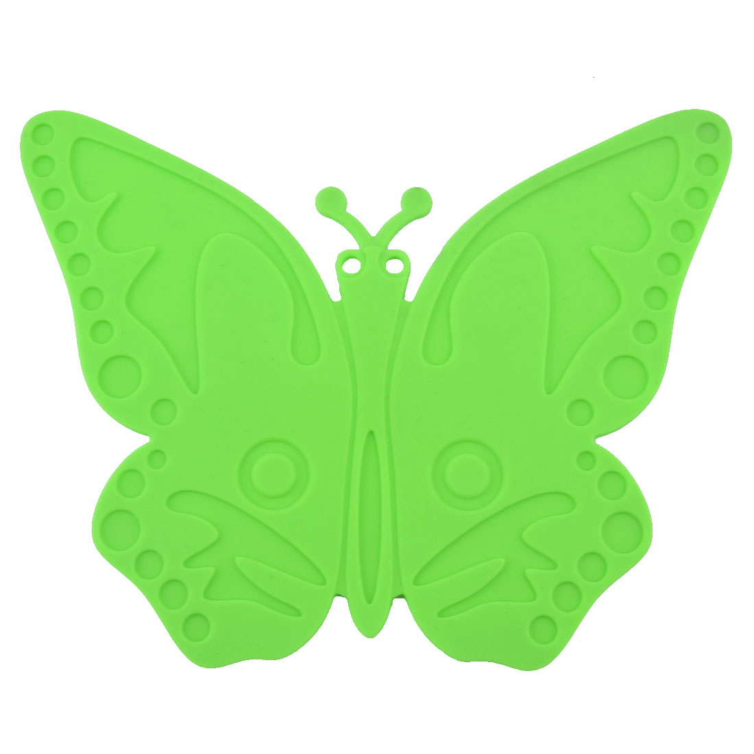 Silicone Butterfly Design Heat Resistant Mat Cup Coaster Cushion Placemat Green