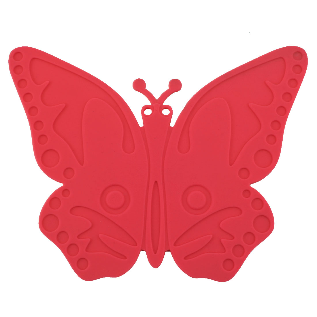 Silicone Butterfly Design Heat Resistant Mat Cup Coaster Cushion Placemat Red