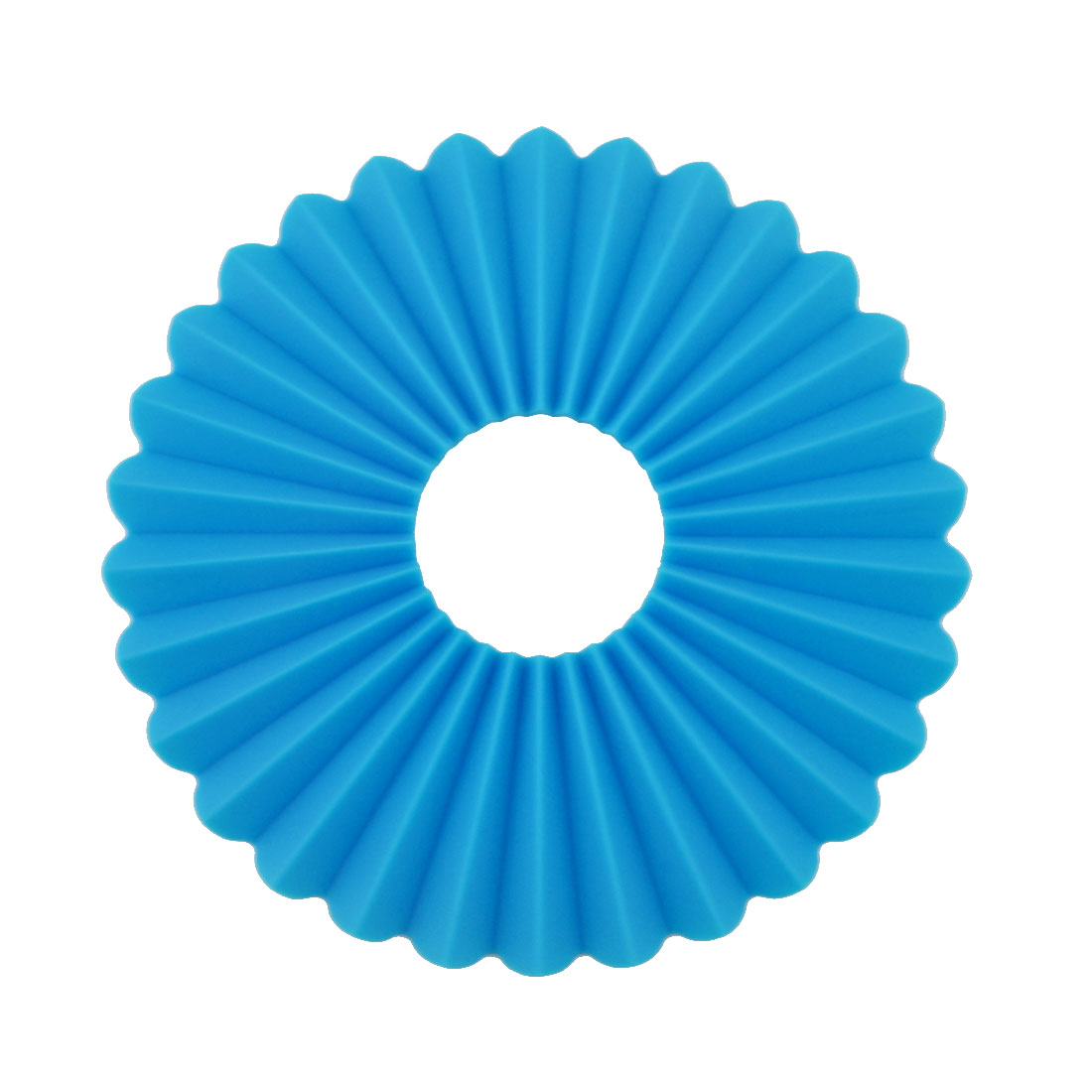Silicone Plicated Multifunction Table Heat Resistant Mat Coaster Cushion Placemat Pad Blue