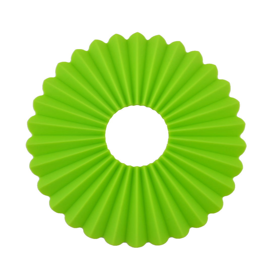 Silicone Plicated Multifunction Table Heat Resistant Mat Coaster Cushion Placemat Pad Green