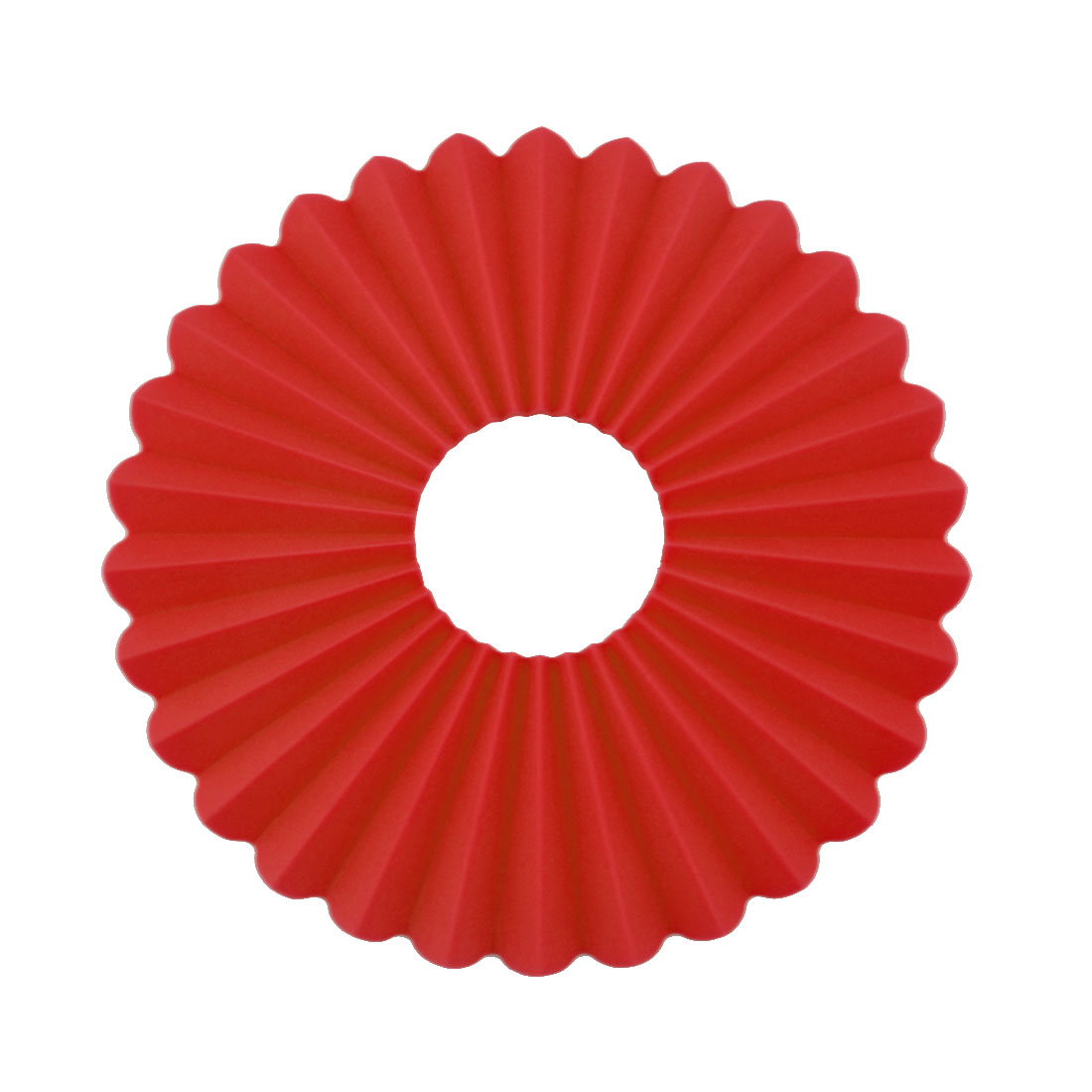 Silicone Plicated Multifunction Table Heat Resistant Mat Coaster Cushion Placemat Pad Red