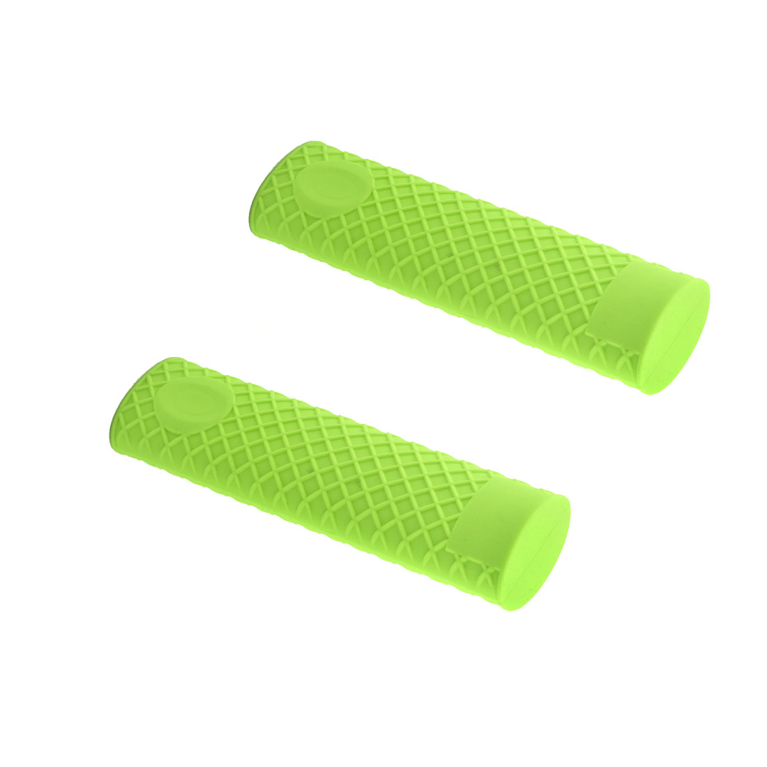 Kitchen Heat Resistant Silicone Pot Pan Handle Grip Holder Sleeve Cover Green 2pcs