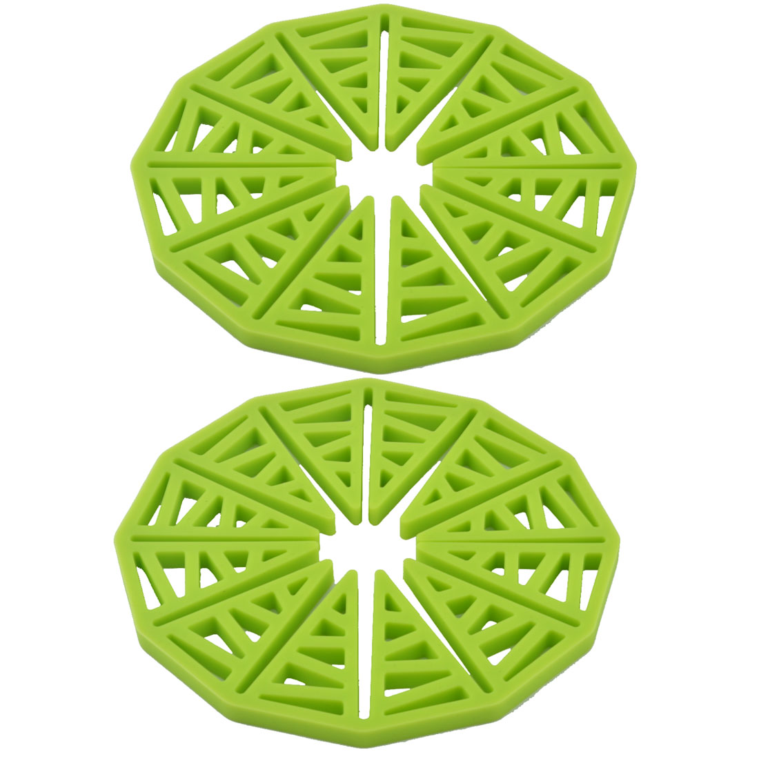 Sunflower Design Silicone Table Heat Resistant Mat Cushion Placemat Green 2pcs